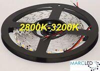 12vdc Smd5050 Led Strip 2800k-3200k, 5m (72w, 300leds), Ip20, 60leds/m, 14.4w/m