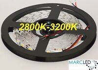 12vdc Smd5050 Led Strip 2800k-3200k, 5m (72w, 300leds), Ip20, 60leds/m, 14.4w/m