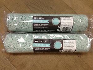 2 X Hamilton Perfection Tissé Rouleaux Peinture - Divers Piles Et Tailles (12,15 Correspondant En Couleur