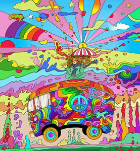 """3"""" Eyes Shrooms Psychedelic Colorful Trippy Goth Horror Vinyl Cool Sticker"""