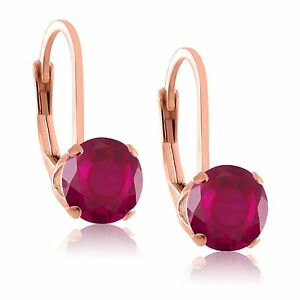 5mm-Natural-Gemstone-Leverback-Earrings-in-Rose-Gold-Plated-Sterling-Silver