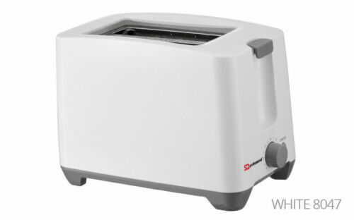 White 2 Two Slice Slot Toaster Quick 750W Toast Cancel Function /& Browning Level
