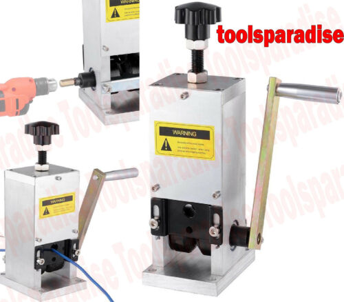 Hand Crank Drill Powered WIRE Insulation Cable Stripping Stripper Remover Tool