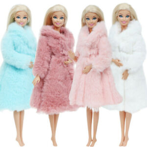 1PC-Fur-Coat-Tops-Dress-Winter-Casual-Wear-Clothes-Accessories-For-Barbie-Doll