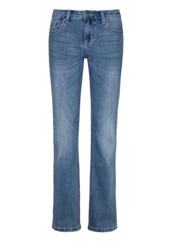 MillionX Damen Jeans Hose Victoria Bootcut Flower 2151808 light blue denim