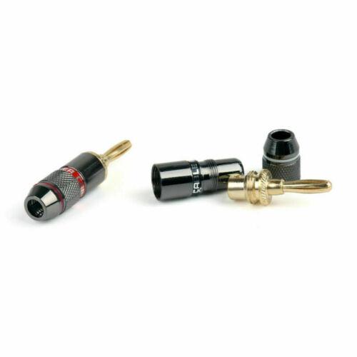 12 X Vergoldet Bananen stecker Banana Plug Lautsprecher Steckverbinder F3