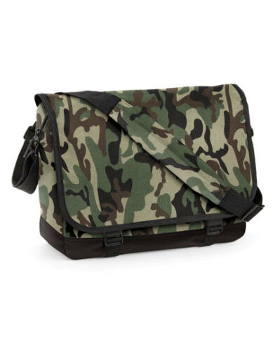 Camouflage Messenger Bag Schultertasche 38 x 12 x 30, BagBase