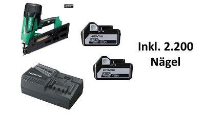 Hitachi Akku-streifen-nagler 18v 2.200nägel 90mm Brushless Nr1890dbcl 5.0ah 34° Kaufen Sie Immer Gut