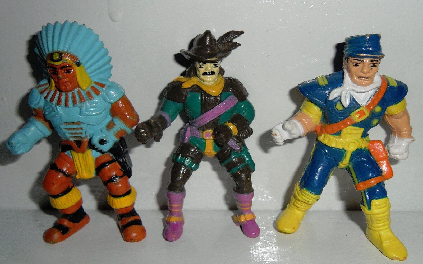 Vintage 1986 X-CHANGERS COSMIC COWBOY Action Figure MINIATURES LOT Bootleg MOTU
