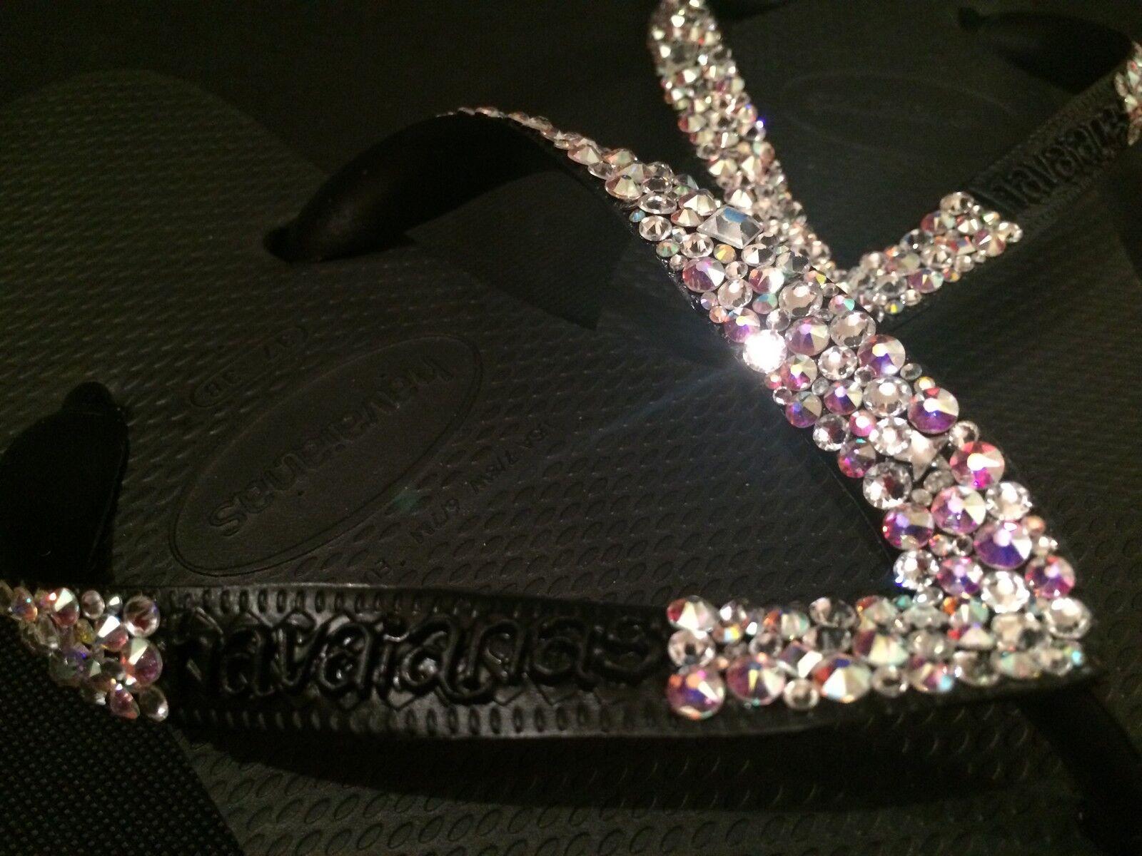 Havaiana Top Flip Flop Sandales MultiCouleure Taille Cristal de Swarovski personnalisé mariage bling