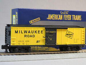 LIONEL AMERICAN FLYER MILWAUKEE ROAD BOXCAR 2156 S GAUGE train car 6-44073 NEW