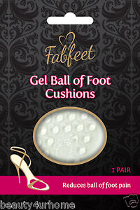 New-Footcare-Fab-feet-Gel-Ball-of-Foot-Cushions-1-Pair-Reduces-ball-of-foot-pain