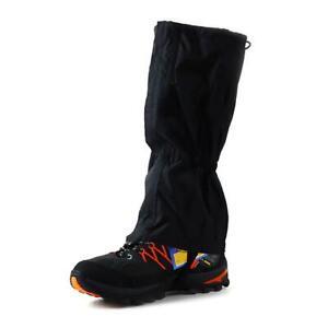 Waterproof-Walking-Gators-Boot-Hiking-Climbing-Leggings-Trekking-Gaiters-Black