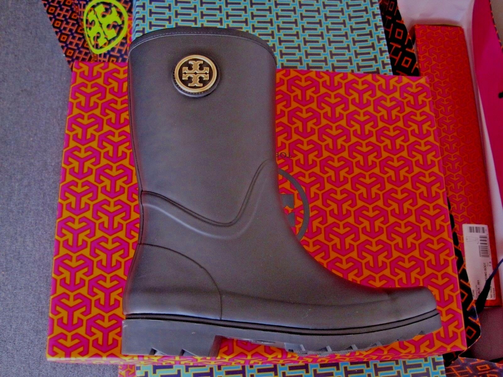 TORY BURCH MAUREEN RAIN BOOT NAVY  NEW BRAND NEW  IN THE BOX SIZE 10 52b8a5