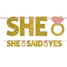 WEDDING AND ENGAGEMENT She Said Yes LETTER BANNER ~ Party Supplies Decorations