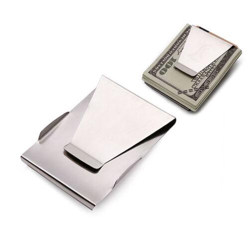 Stainless Steel Slim Money Cash Clip carte de crédit Argent Titulaire Portefeuille homme