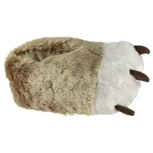 Star Boys White//Light Brown 3D Claw Slippers 3 BNWT