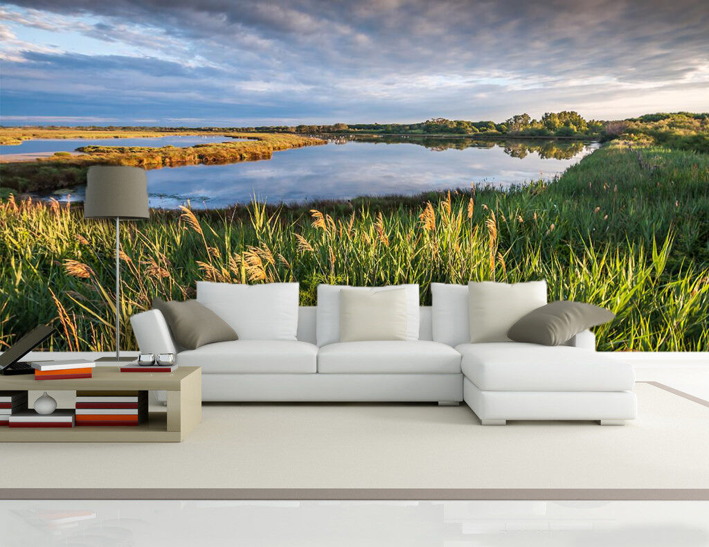 3D Clear Sky And Lake 828 Wall Paper Wall Print Decal Wall Deco Indoor Wall