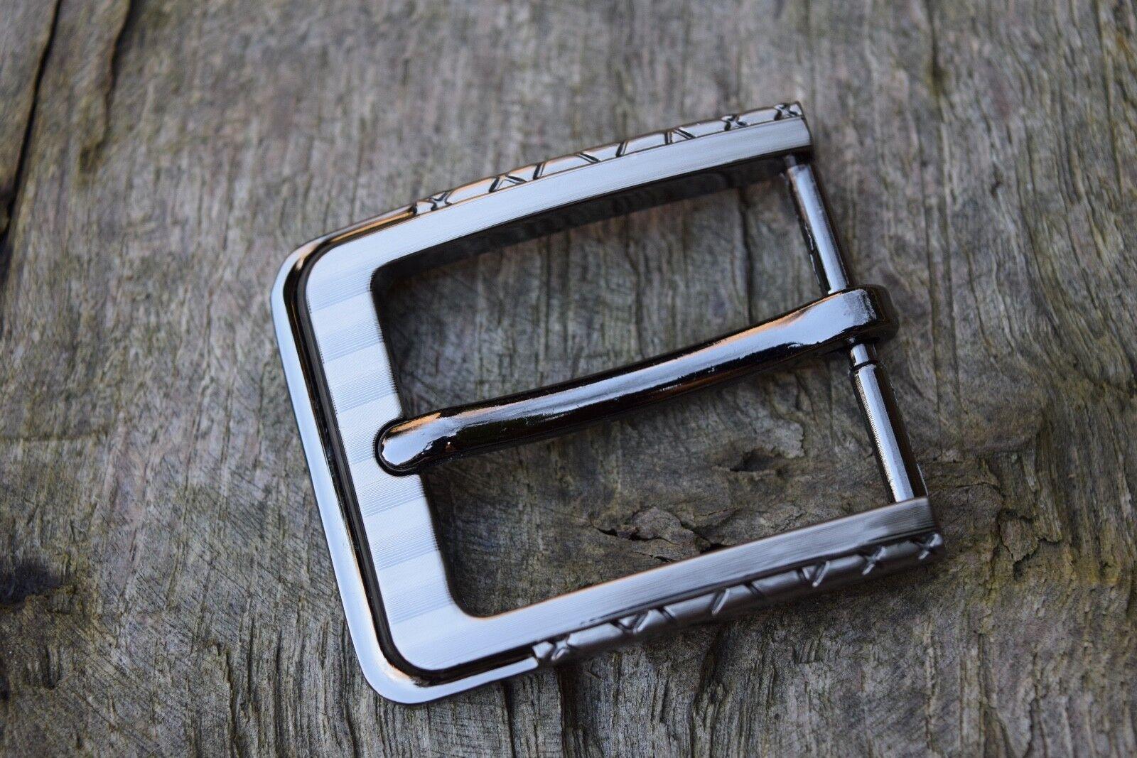 Ersatz Gürtelschnalle Passend Für 30mm Band Metall Schwarz Silber Großhandel J