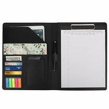 Moko A4 Leather Clipboard Folder Meeting Holders Business Portfolio Writing Pad