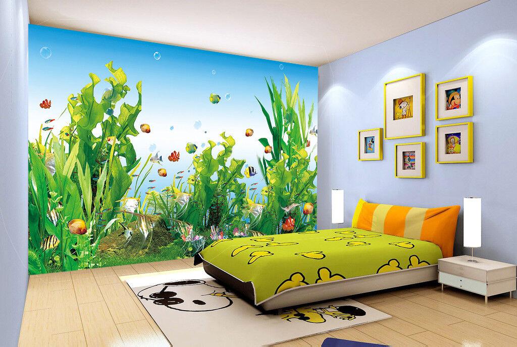 3D Grün Kelp 45 Wallpaper Murals Wall Print Wallpaper Mural AJ WALL UK Summer