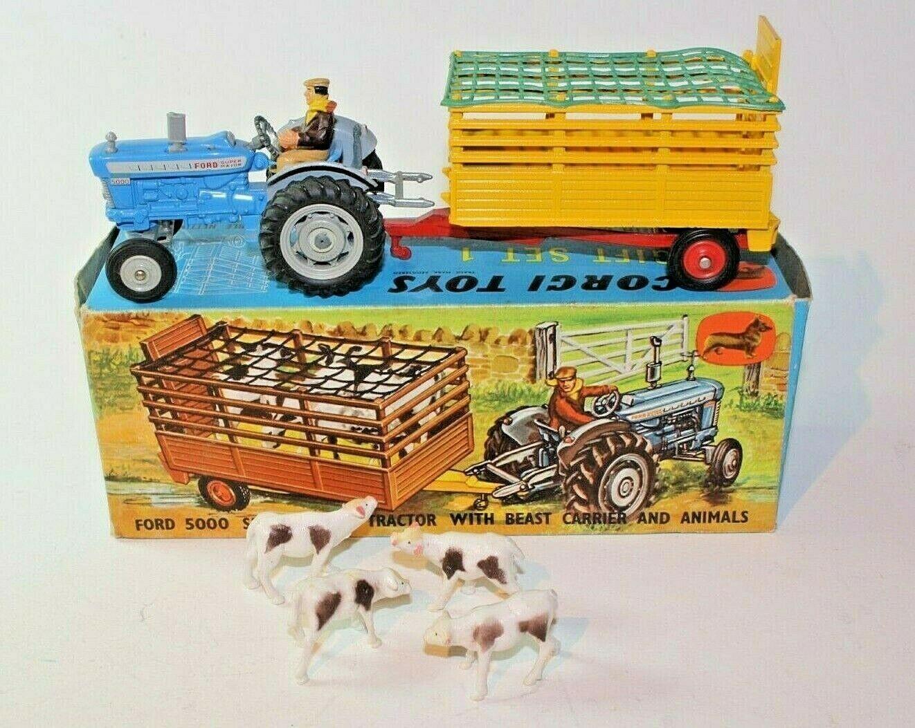 Corgi, un tractor Ford 5000, con Beast Cocherier y VNM.