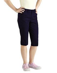DICKIES JUNIOR GIRLS NAVY BLUE CAPRI PANTS SIZE 0 to 21 | eBay