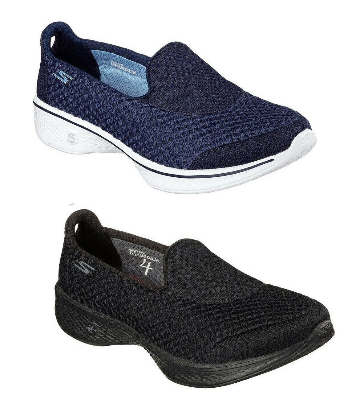 Skechers Go Walk 4 Kindle Donna Memory Foam Slip On Scarpe da ginnastica