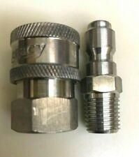 Legacy 8707 1250 Stainless Pressure Washer Hose 38 Quick Coupler Socket Set