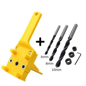 1-8pcs-Handheld-Woodwork-Doweling-Jig-Drill-Guide-Wood-Dowel-Drilling-Hole