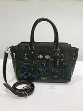 Coach * Blake Pebble Leather Carryall 25 Bag Butterfly Applique Black COD PayPal