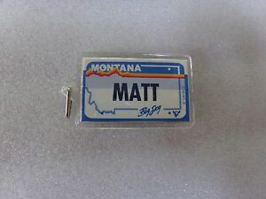 Matt-Name-Montana-License-Plate-Personalized-Key-Chain-Ring-Holder-Souvenir-Tour