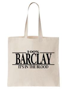 Barclay-Familienname-Schultertasche-Einkaufstasche-Geschenk-Baum-cool