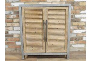 Retro-Industrial-Louvered-Door-Cabinet-Sideboard-Metal-and-Reclaimed-Wood