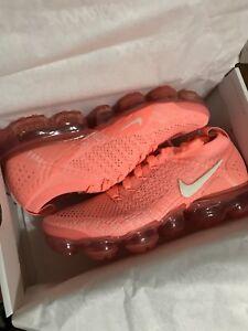 Image is loading Nike-Air-Vapormax-Flyknit-2-Crimson-Pulse-Orange-