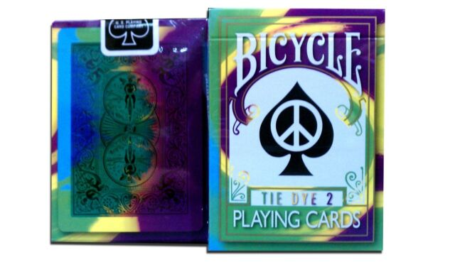 2nd Edition Rare Bicycle Tie Dye 2 Playing Cards Tye Die magic trick deck new