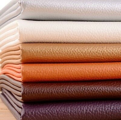 Half Yard Big Lychee Skin Faux Leather Fabric For Upholstery,Soft Leather Fabric