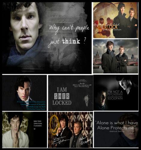 Benedict Cumberbatch Quote GB Novel #26 * Sherlock Holmes TV Series Posters