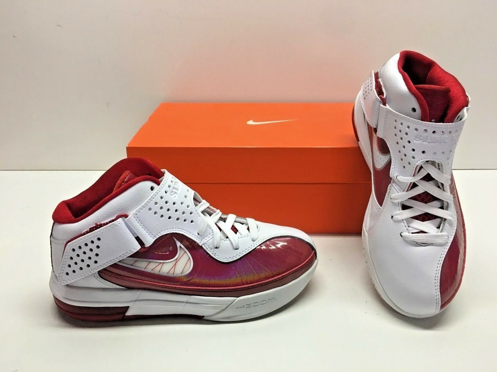 Nike Air Max Soldier V 5 TB Lebron Basketball White Red Sneakers Shoes Womens 6