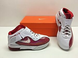 a4bedc23fd29 Nike Air Max Soldier V 5 TB Lebron Basketball White Red Sneakers ...