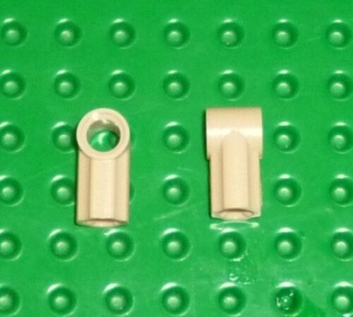 TECHNIC LEGO TK206 AXLE /& PIN CONNECTORS ANGLED #1 TAN x 4 32013