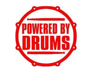 Brillant Alimenté Par Batterie Autocollant Vinyle 8x8 Tambour Rouge Set Cymbales Percussion Tambour Bat-afficher Le Titre D'origine Produits De Qualité Selon La Qualité