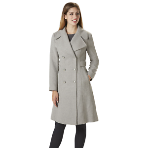 Women's Jessica Simpson Double Breasted Reefer Coat Grey XL  NK7TP-897