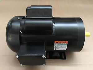 2hp 56c 1 phase electric motor 1800 rpm 115 230 volt for Totally enclosed fan cooled motor
