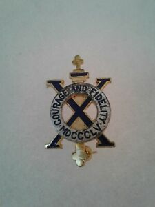 Authentic-WWII-US-Army-10th-Infantry-Regiment-Unit-DI-DUI-Insignia-Crest-NH