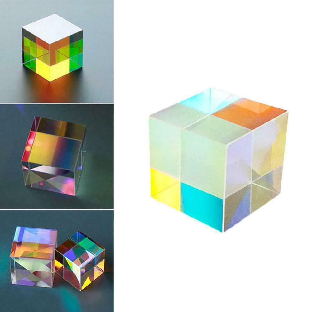 Optical Glass X-cube Dichroic Cube Prism RGB Combiner Splitter Gift