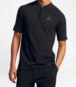 Sizes S//M//L//XL//XXL Nike Men/'s Sportswear Bonded Black Polo Shirt 846871-010