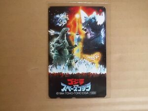GODZILLA-VS-SPACE-GODZILLA-Phone-card-japanese-movie-japan-new