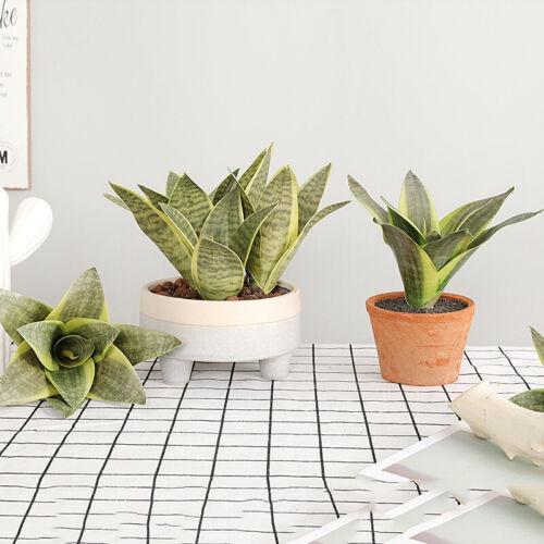 Artificial Snake Plant Fake Plastic Flower Leaves Bonsai Home Room Floral Decor