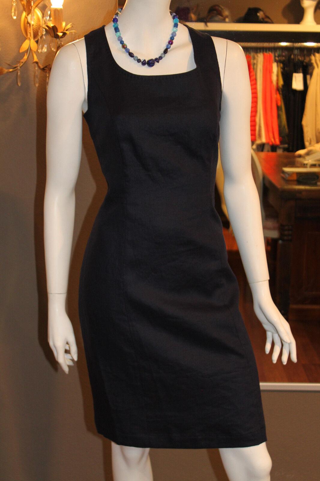 Kleid blau marine Leinen Gr. 38